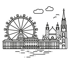 Vienna Cityscape vector illustration