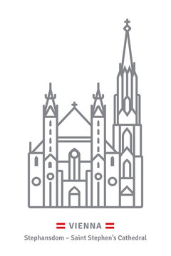 Saint Stephens Cathedral at Vienna icon