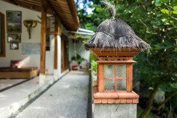 Lantern in a Balinese house