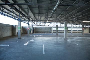Empty car parking area