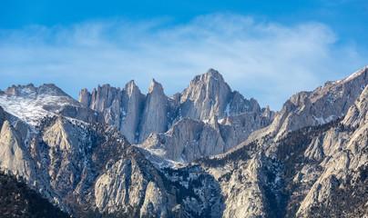Mountain Whitney close-up view at Alabama Hills, Eastern Sierra Nevada Mountains, Lone Pine, California, USA. Fototapete