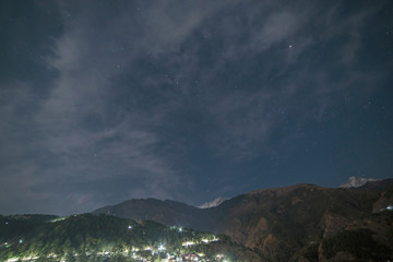 view on Dharamshala at night, India