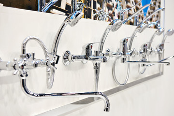 Mixers taps for shower in store