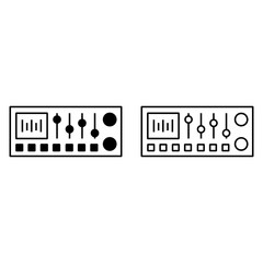 Sound mixer console icon
