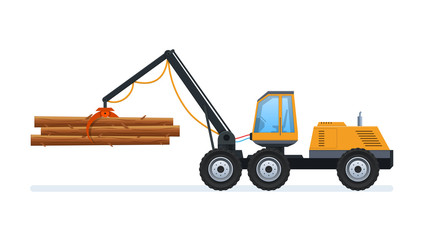 Wood production and forestry. Loading and transporting goods.