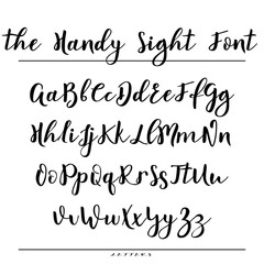 Hand drawn vector alphabet. Calligraphy letters for your design