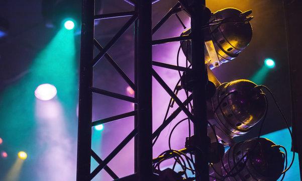 Colorful spot lights,  modern stage illumination