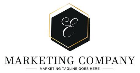 Elegant Modern Professional Luxury Company Business Letter E Logo Design