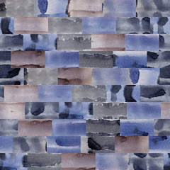 Wooden, leather, natural, vegetable texture of the wall. Watercolor. Illustration