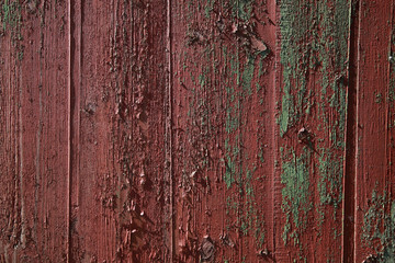 Old red wooden texture.