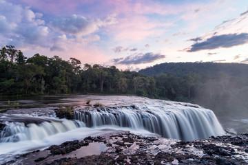 Sea Pong Lai waterfall at Ban Nonghin, Attapeu Province, Bolaven Plateau,Laos