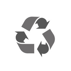 Recycle icon logo in flat style on a white background