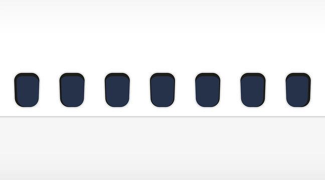 airplane window background, stylish design vector illustration