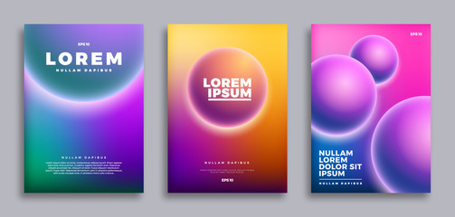 Cover page design, Creative gradients background. Vector illustration template