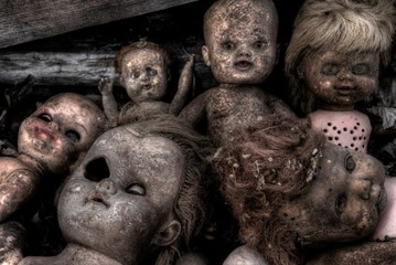 Creepy Broken Old Dolls
