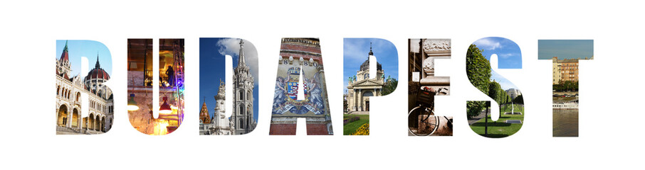 Budapest banner collage