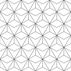 Seamless background for your designs. Modern vector ornament. Geometric abstract black and white pattern