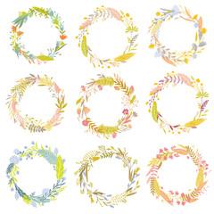 Floral round frames.