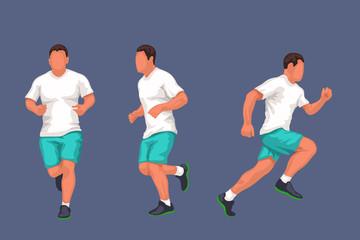 running man in set