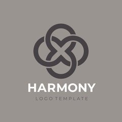 Double Endless infinity symbol. Infinite icon. Limitless logo. Vector Logo Template.