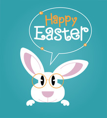 Greeting card with with Easter rabbit