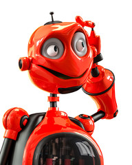 funny and glossy robot cartoon