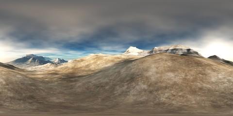 HDRI, Round panorama, spherical panorama, equidistant projection, land under heaven