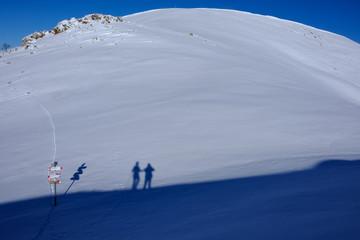 ombre sulla neve