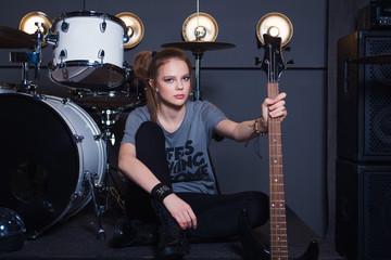 teen girl rockstar guitar