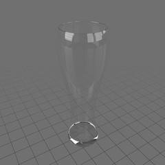 Tall thin empty glass 3