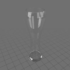 Tall thin empty glass 1