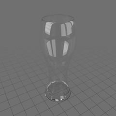 Tall thin empty glass 6