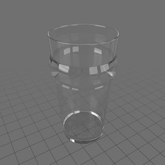 Large empty glass 1