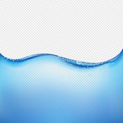 Blue Water Wave Transparent Background