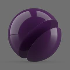 Purple plastic