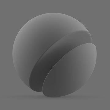 Gray matte surface