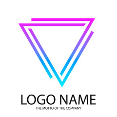 Logo triangle. Gradient logo for your company.
