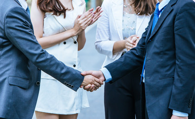 Business People Handshake.success Business.