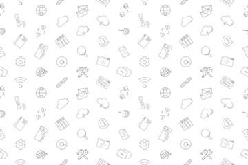 Vector internet pattern. Internet seamless background