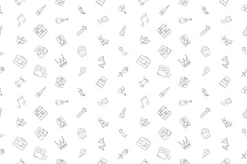 Vector party pattern. Party seamless background