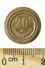 Token: France Jeton 'A Consommer'. Obverse. Isolated on white