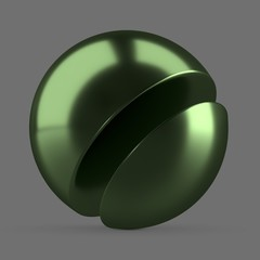 Green anodized metal