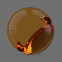 Orange glass