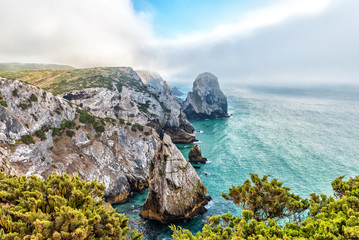 Atlantic Coast in the Natural Park of Sintra-Cascais in Portugal