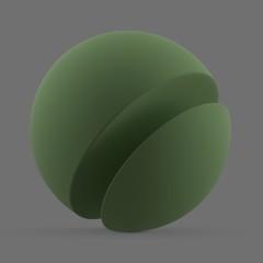 Green matte surface