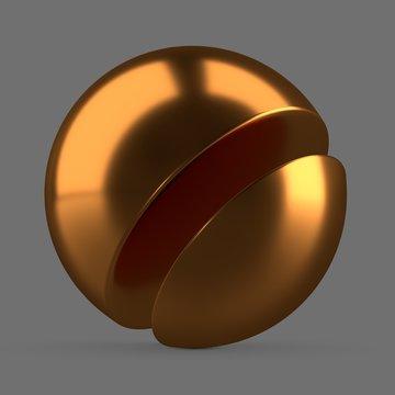 Orange anodized metal