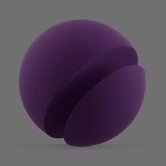Purple matte surface