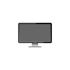 motior lcd display on white background,  vector illustration.