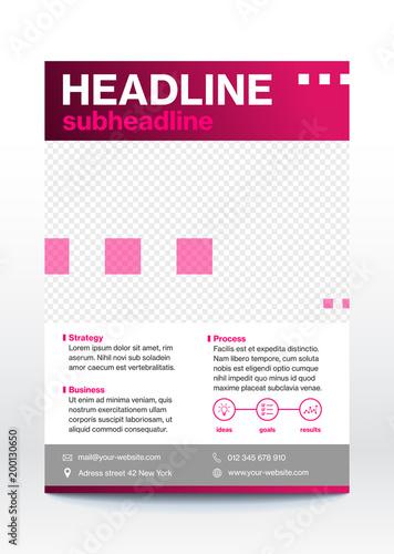 Business poster template, flyer, brochure design layout\