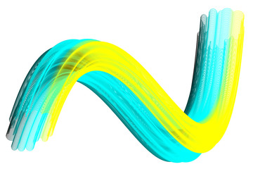 Colorful abstract wave